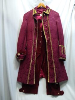 Fancy Colonial Man, BURGUNDY, XL