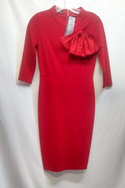 "Dress, Vintage Red, Conservative, size 4 (S) Bust: 34"" waist: 26"" S"