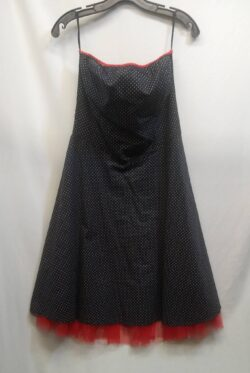 "Dress, Polka Dot, size 9 bust up to 38"" waist 32"" L"