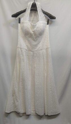 "Dress, Vintage, Halter, size M bust: 36"" waist: 30"""
