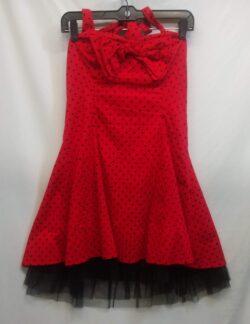 "Dress, 50s, Polka Dot, size 14 bust: 32""- 38"" waist 32"" L"