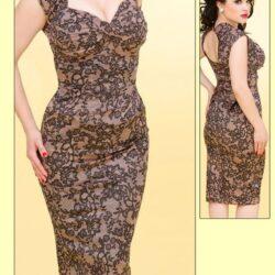 Dress, Retro, Pinup, Size LG