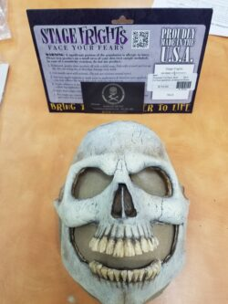 Prosthetic Full Face, Skull PRE-PAINTED