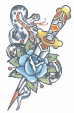 Tattoo FX, Snake & Dagger
