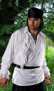 Pirate Shirt, Roberto Cofresi XL WH