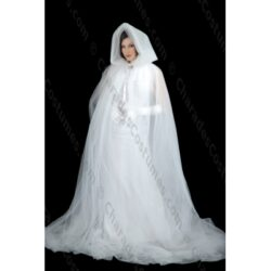 Cape / Cloak, Ghost Tulle $15 Rent
