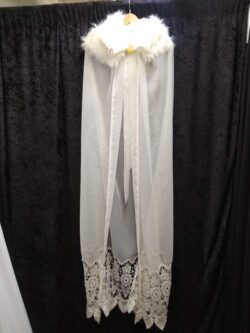 Cape, White lace XL