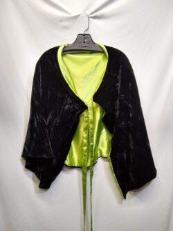 Capelet, Black/Green OS