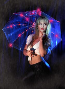 Umbrella, LED with Charger