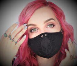 Mask PPE, skull fishnet