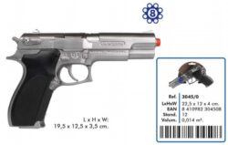 Gun, Metal Police Pistol $10 Rent