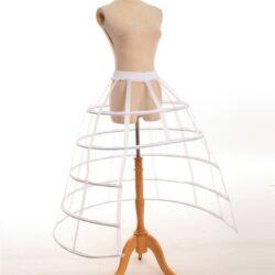 Skirt, cage hoop, WHITE