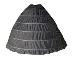 Skirt, Hoop, 6 bones, BLACK drawstring