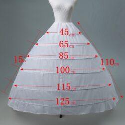Skirt, Hoop, 6 bones, WHITE drawstring